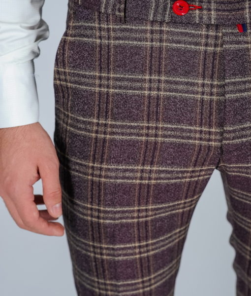 Зауженные брюки в клетку Арт.:5-118-3