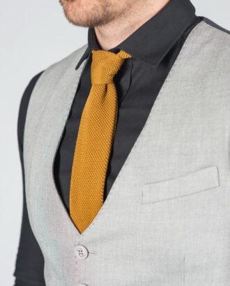 Мужская жилетка серого цвета V-001SM