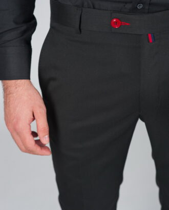 Черные зауженные брюки Арт.:5-001-8