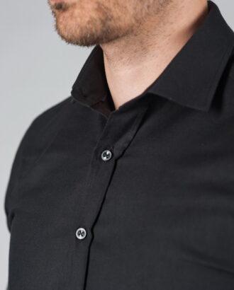 Приталенная рубашка черного цвета. Арт.:5-001