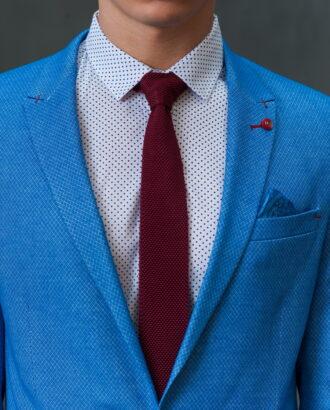 Голубой мужской пиджак J-424FR