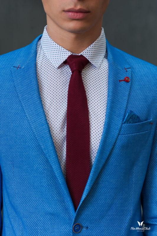 Голубой мужской пиджак. Арт.:2-424-2