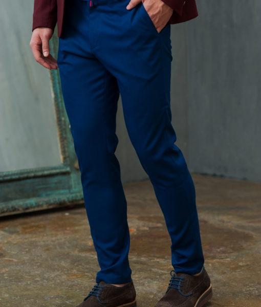 Укороченные брюки синего цвета
