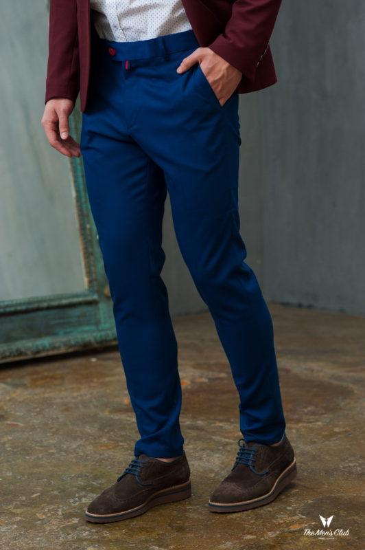 Укороченные брюки синего цвета. Арт.:6-425-3