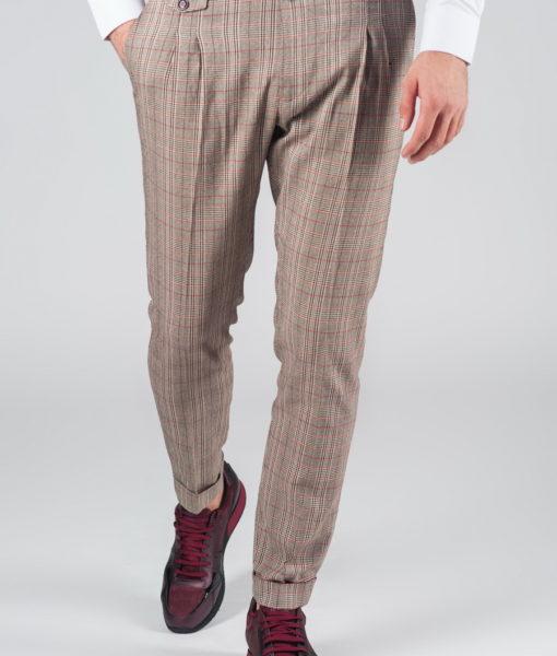 Мужские брюки в клетку. Арт.:6-003-3