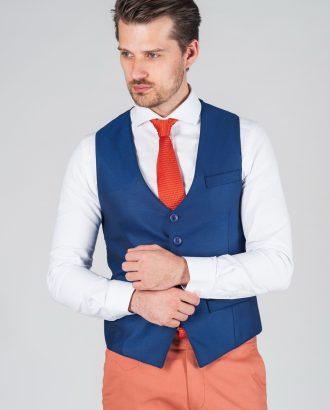 Мужская жилетка синего цвета Арт.:3-036-1