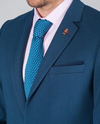 Мужской укороченный пиджак синего цветаJ-005FR