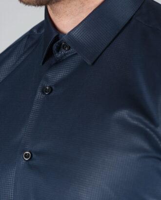Мужская рубашка синего цвета. Арт.:5-006-12