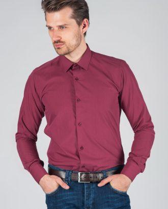 Мужская рубашка лилового цвета. Арт.:5-007-12