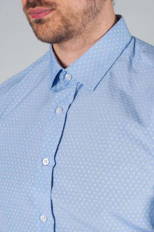 Мужская рубашка голубого цвета. Арт.:5-008-3