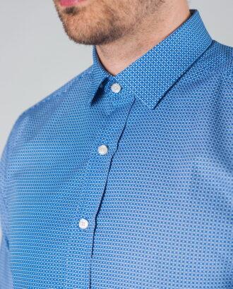 Приталенная рубашка с принтом. Арт.:5-010-3