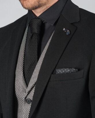 Черный приталенный пиджак Арт.:2-011-1