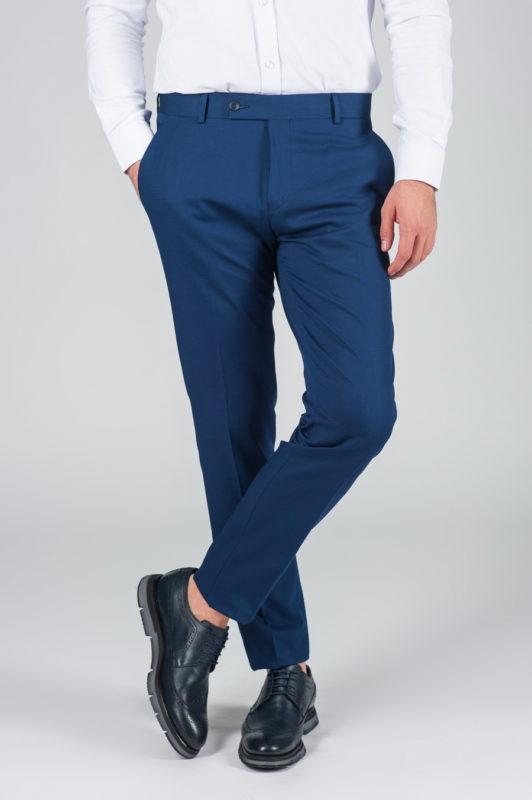 Синие брюки зауженного кроя. Арт.:6-012-8