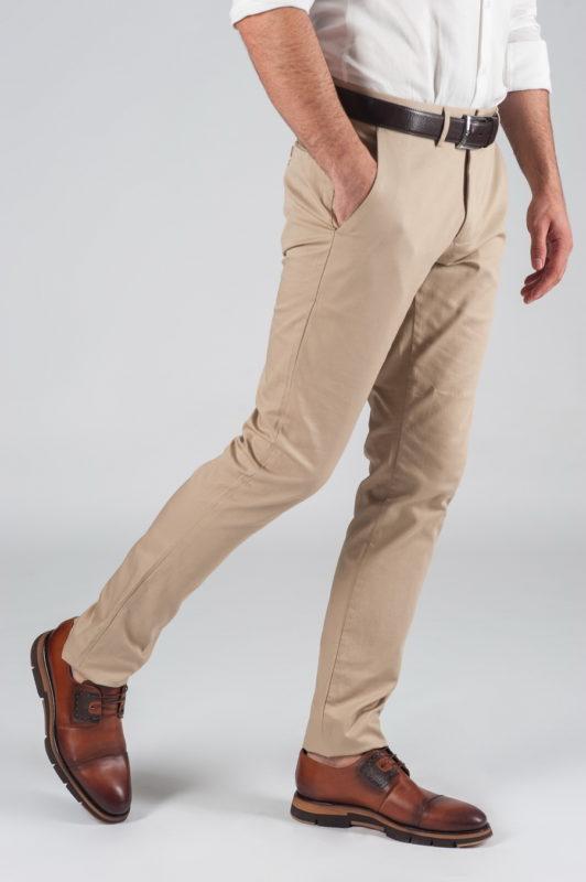 Хлопковые бежевые брюки Арт.:5-017-2