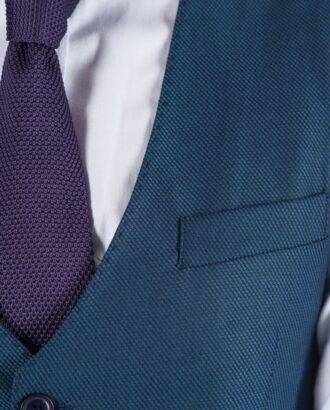 Мужской жилет синего цвета Арт.:3-019-3