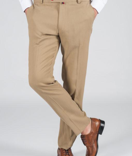 Светлые зауженные брюки