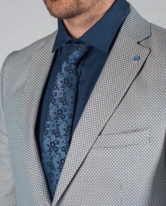 Фактурный пиджак серого цвета J-023FR