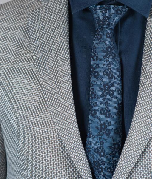Фактурный пиджак серого цвета Арт.:2-023-2