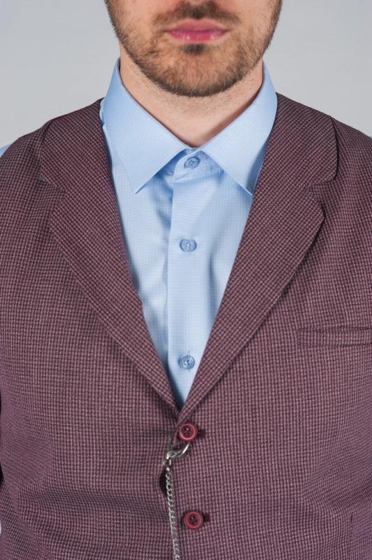 Жилетка мужская фиолетового оттенка Арт.:3-025-1