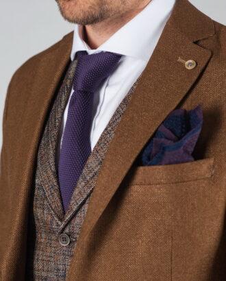 Кэжуал пиджак коричневого цвета J-026FR