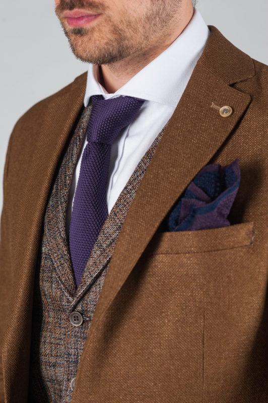 Кэжуал пиджак коричневого цвета Арт.:2-026-2