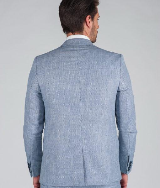 Костюм-тройка голубого цвета Арт.:4-027-2