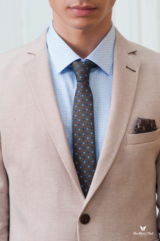Бежевый мужской пиджак в стиле casual. Арт.:2-427-2