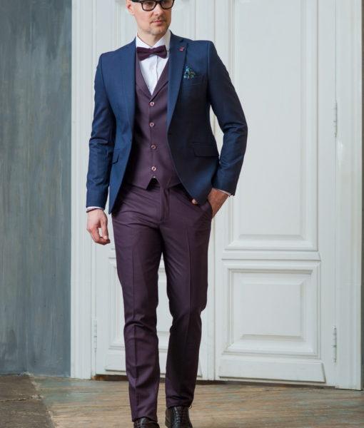 Темно-синий мужской пиджак. Арт.:2-433-3