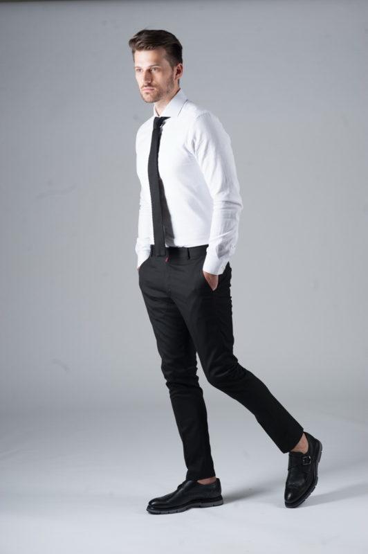 Черные укороченные брюки. Арт.:6-301-3