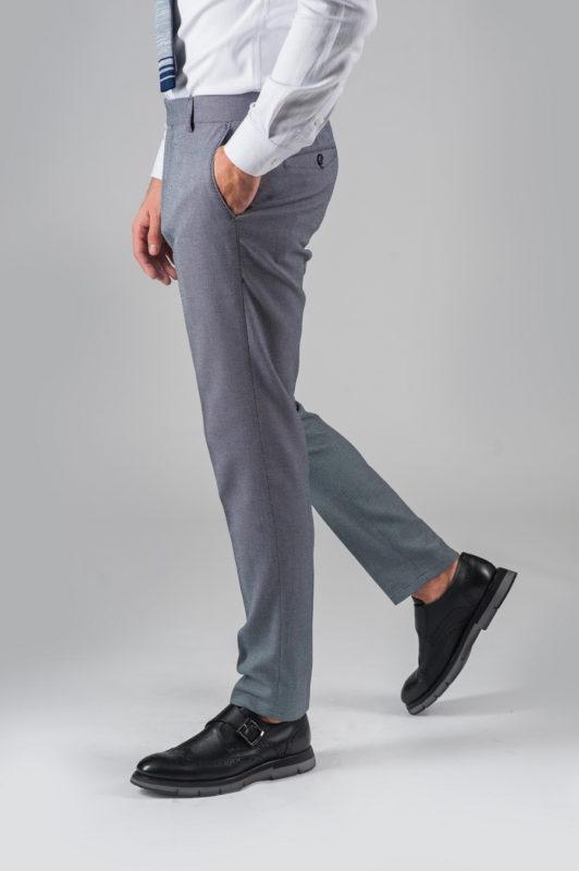 Зауженные брюки серого цвета. Арт.:6-309-3