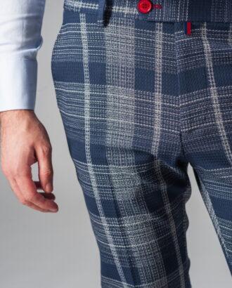 Модные укороченные брюки в клетку