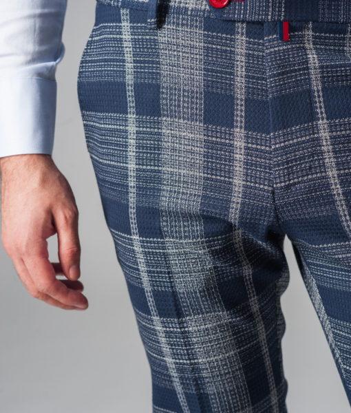 Модные укороченные брюки в клетку. Арт.:6-312-3