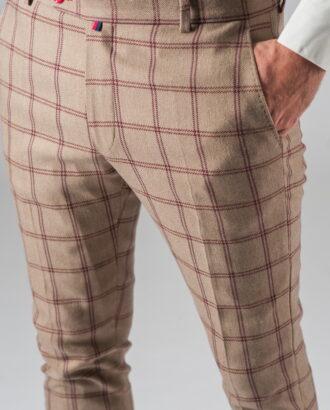 Хлопковые брюки в клетку. Арт.:6-314-3