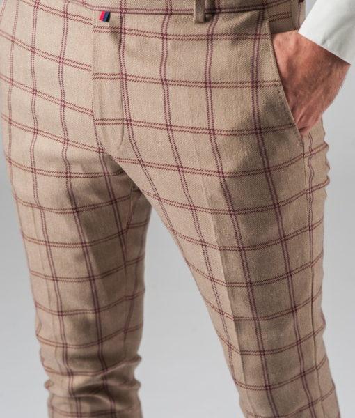 Хлопковые брюки в клетку