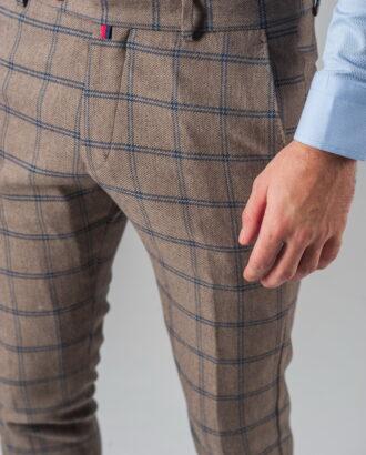 Укороченные брюки в крупную клетку. Арт.:6-315-3