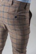 Укороченные брюки в крупную клетку