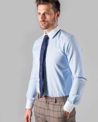 Приталенная мужская рубашка с манжетами. Арт.:5-316-3