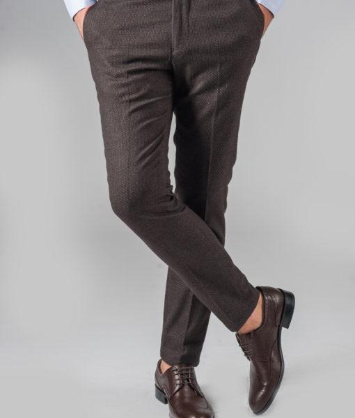 Укороченные брюки из фактурной ткани
