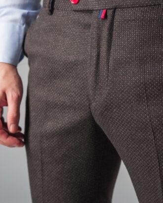 Укороченные брюки из фактурной ткани. Арт.:6-317-3