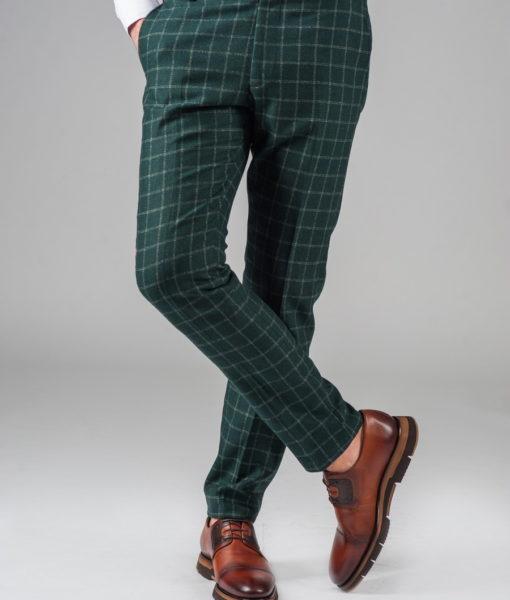 Хлопковые брюки зеленого цвета. Арт.:6-319-3