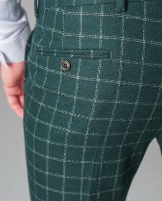 Хлопковые брюки зеленого цвета