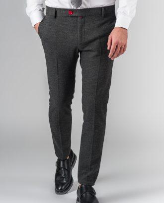 Укороченные брюки серого цвета Арт.:5-202-3
