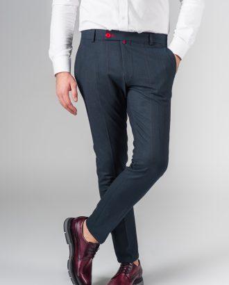 Укороченные брюки в тонкую полоску. Арт.:6-210-3
