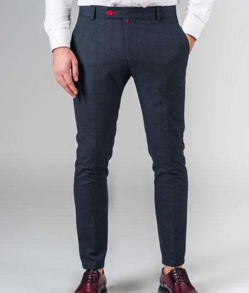 Укороченные брюки в тонкую полоску