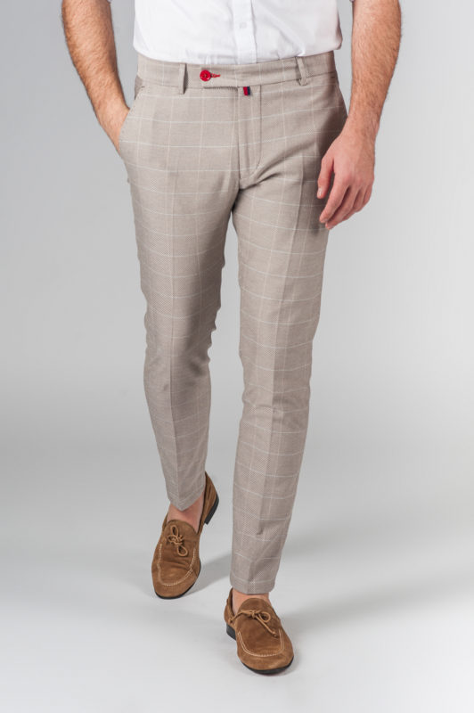 Стильные брюки бежевого цвета. Арт.:6-212-3