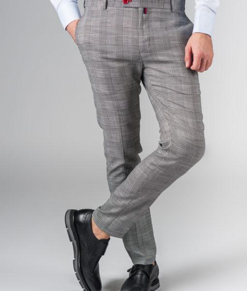 Укроченные брюки в черно-белую клетку. Арт.:6-216-3