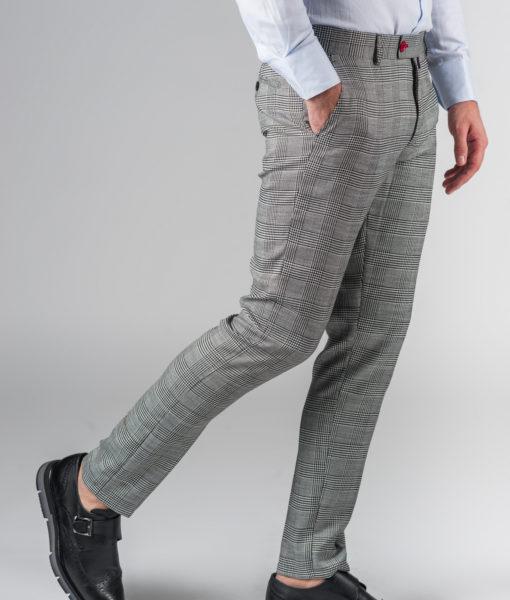 Укороченные брюки в черно-белую клетку