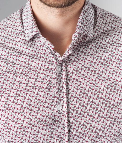 Приталенная рубашка с принтом. Арт.:5-230-8