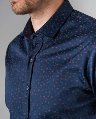 Темно-синяя рубашка из хлопка. Арт.:5-232-8