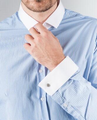 Рубашка из хлопка с манжетами